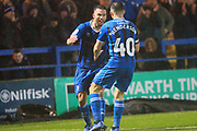 GOAL Bradden Inman celebrates scoring during the EFL Sky Bet League 1 match between Rochdale and Plymouth Argyle at Spotland, Rochdale, England on 15 December 2018.