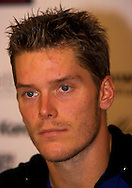 Tennis, Eurocard Open 99, Stuttgart, Thomas Enqvist (SWE),.Pressekonferenz, Portrait, Hochformat,