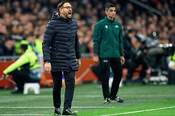 Coach Jose Bordalas of Getafe in action during the Europa League match R32 second leg between Ajax and Getafe at Johan Cruyff Arena on February 27, 2020 in Amsterdam, Netherlands