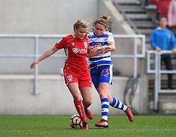 Olivia Fergusson of Bristol City Women battles with Rachel Rowe of Reading Women - Mandatory by-line: Paul Knight/JMP - 22/04/2017 - FOOTBALL - Ashton Gate - Bristol, England - Bristol City Women v Reading Women - FA Women's Super League 1 Spring Series