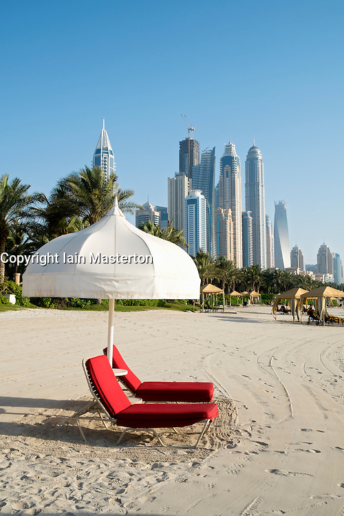 Beach at The One and Only Royal Mirage Hotel in Dubai United Arab Emirates