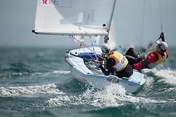 2012 Olympic Games London / Weymouth<br /> Bithell Stuart, Patience Luke, (GBR, 470 Men)