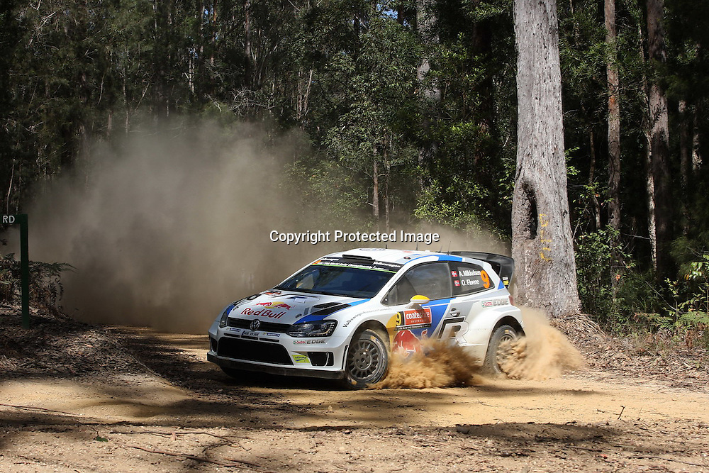 Andreas Mikkelsen (NOR) SS3. Rally Australia - Round 10 of the FIA World Rally Championship, Day 1, 12 September 2014. Photo: Alan McDonald/www.photosport.co.nz