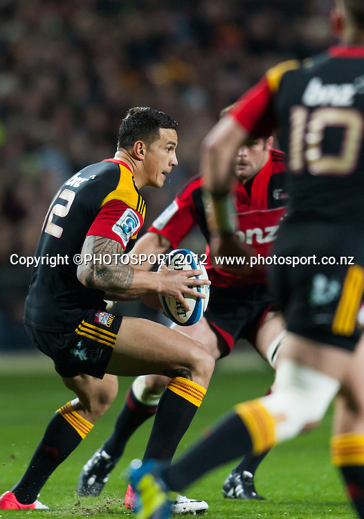 Chiefs' Sonny Bill Williams during the Super Rugby Semi Final won by the Chiefs (20-17) against the Crusaders at Waikato Stadium, Hamilton, New Zealand, Friday 27 July 2012. Photo: Stephen Barker/Photosport.co.nz