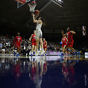 Breanna Stewart, UConn, scores two points during the UConn Vs SMU Women's College Basketball game at Gampel Pavilion, Storrs, Conn. 24th February 2016. Photo Tim Clayton