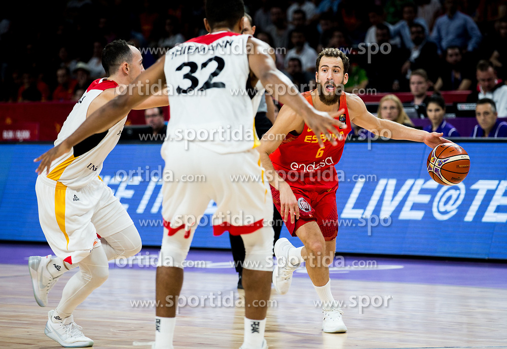 Sergio Rodriguez of Spain during basketball match between National Teams of Germany and Spain at Day 13 in Round of 16 of the FIBA EuroBasket 2017 at Sinan Erdem Dome in Istanbul, Turkey on September 12, 2017. Photo by Vid Ponikvar / Sportida