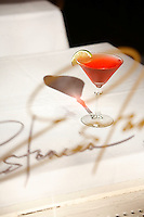 One of Estancia restaurant's signature drinks The Estancia Cosmopolitan. Shot on May 25th, 2007..Photo Credit; Rahav Segev/Photopass