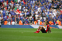 Football - 2017 / 2018 FA Cup - Semi Final: Chelsea vs. Southampton<br /> <br /> Southampton's Mario Lemina sits dejected at the final whistle at Wembley Stadium <br /> <br /> COLORSPORT/SHAUN BOGGUST