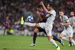 October 24, 2018 - Barcelona, Spain - Barcelona, Spain, October 24, 2018: Luis Suarez of FC Barcelona duels for the ball with Danilo D Ambrosio of FC Internazionale during the UEFA Champions League, Group B football match between FC Barcelona and FC Internazionale on October 24, 2018 at Camp Nou stadium in Barcelona, Spain (Credit Image: © Manuel Blondeau via ZUMA Wire)