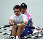 Hazenwinkel, Belgium. British Inaternational Rowing Senior trials.  11.04.2001 Photo: Peter Spurrier..Ned Kittoe and Ben Webb. ........... [Mandatory Credit; Peter Spurrier/Intersport Images] 200104  GB Rowing Senior Trails, Hazewinkel BELGIUM