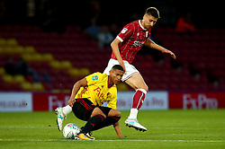 (Caption Correction) Jens Hegeler of Bristol City tackles Richarlison of Watford - Mandatory by-line: Robbie Stephenson/JMP - 22/08/2017 - FOOTBALL - Vicarage Road - Watford, England - Watford v Bristol City - Carabao Cup