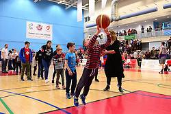 Portishead half time shoot out - Photo mandatory by-line: Dougie Allward/JMP - 01/04/2017 - BASKETBALL - SGS Wise Arena - Bristol, England - Bristol Flyers v Leeds Force - British Basketball League