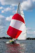 Allegro sailing in the Yacht Racing Association of Long Island Sound season finale regatta.