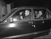 Dissolution of  22nd  Dáil Éireann 1982. .27/01/1982.01/27/82.27th January 1982.Photo of Officials arriving at Áras an Uachtaráin for the signing the warrant of dissolution of the Dáil.