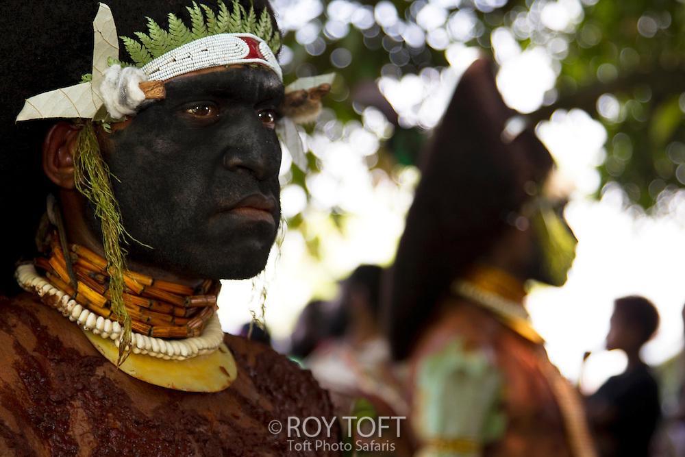Male performer, Morobe Singsing dance festival, Papua New Guinea