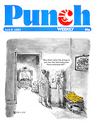"""""""But that's what I'm trying to tell you - the television has been switched (Punch, front cover, 8 June 1983)"""