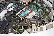 A general view of Wet Republic and the MGM pool where Travis Pastrana and Erik Roner of Nitro Circus prepare to base jump off The Signature at the MGM Grand Hotel & Casino on Wednesday June 1, 2011 in Las Vegas to promote the North American debut of Nitro Circus Live at the MGM Grand Garden Arena on Saturday June 4, 2011. (Jeff Bottari/AP Images for Nitro Circus Live)