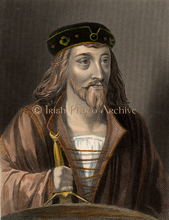 James I (1394-1437) King of Scotland from 1424 until assassinated in 1437.  19th century hand-coloured engraving.