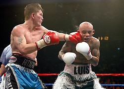 Ricky Hatton survived arguably the toughest fight of his career against Luis Collazo at the Boston Garden to be crowned the WBA welterweight champion. In his first fight at the higher limit, the former light welterweight king floored his tricky southpaw rival in the first 10 seconds of the contest. ....But American Collazo pushed Hatton all the way before losing on points. ....Hatton was ahead on all three cards - 115-112, 115-112, 114-113 - as he became a two-weight world champion...