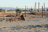 North America, USA, California, Imperial Valley, Salton Sea, Bombay Beach, Pax Americana Bombay Beach