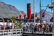 The TSS Earnslaw is a 1912 Edwardian vintage twin screw steamer plying the waters of Lake Wakatipu, on South Island of New Zealand. Based in Queenstown, it is one of the oldest tourist attractions in Central Otago, and the only remaining commercial passenger-carrying coal-fired steamship in the southern hemisphere. The TSS Earnslaw made a brief cameo appearance in the movie Indiana Jones and the Kingdom of the Crystal Skull (2008).