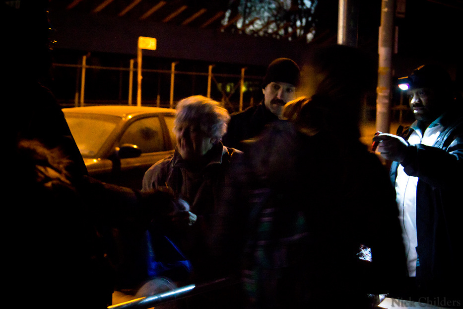 Occasional arguments occurred as some residents seemed desperate to get supplies. This woman had argued with police after trying to get more than her fair-share. Become a volunteer with &quot;Occupy Sandy&quot; HERE:<br />