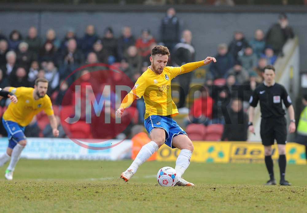 Bristol Rovers' Matty Taylor takes the first half penalty - Photo mandatory by-line: Neil Brookman/JMP - Mobile: 07966 386802 - 14/02/2015 - SPORT - Football - Cleethorpes - Blundell Park - Grimsby Town v Bristol Rovers - Vanarama Football Conference