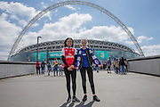 Fans on Wembley Way during the SSE Women's FA Cup Final match between Chelsea Ladies and Arsenal Ladies at Wembley Stadium, London, England on 14 May 2016. Photo by Shane Healey.
