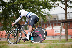Rotem Gafinovitz (ISR) charges across the cobbles at Boels Ladies Tour 2019 - Prologue, a 3.8 km individual time trial at Tom Dumoulin Bike Park, Sittard - Geleen, Netherlands on September 3, 2019. Photo by Sean Robinson/velofocus.com