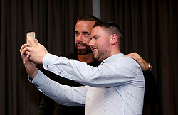 Aaron Wilbraham of Bristol City poses for a selfie with a guest during the Lansdown Club event - Mandatory by-line: Robbie Stephenson/JMP - 06/09/2016 - GENERAL SPORT - Ashton Gate - Bristol, England - Lansdown Club -