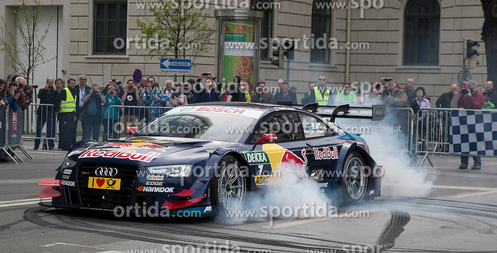 05.04.2014, Innenstadt, Graz, AUT, Saisoneroeffnung Spielberg in Graz, im Bild Mattias Ekstroem im DTM Audi // during the Spielberg in Graz Season Opening for the Red Bull Ring at the City Center, Graz, Austria on 2014/04/05, EXPA Pictures © 2014, PhotoCredit: EXPA/ Erwin Scheriau