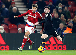 Gaston Ramirez of Middlesbrough takes on Andrew Robertson of Hull City - Mandatory by-line: Robbie Stephenson/JMP - 05/12/2016 - FOOTBALL - Riverside Stadium - Middlesbrough, England - Middlesbrough v Hull City - Premier League