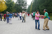 China, Beijing, The Forbidden City Temple of Heaven park, western dancing as a sport