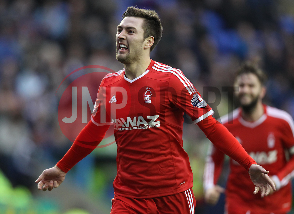 Nottingham Forest's Garry Gardner celebrates - Photo mandatory by-line: Robbie Stephenson/JMP - Mobile: 07966 386802 - 28/02/2015 - SPORT - Football - Reading - Madejski Stadium - Reading v Nottingham Forest - Sky Bet Championship