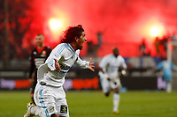 FOOTBALL - FRENCH CHAMPIONSHIP 2009/2010 - L1 - OLYMPIQUE MARSEILLE v STADE RENNAIS - 5/05/2010 - PHOTO PHILIPPE LAURENSON / DPPI - JOY AFTER LUCHO GOAL (OM)