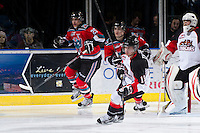 KELOWNA, CANADA - DECEMBER 8:  Jordan Tkatch #19 of the Prince George Cougars skates on the ice at the Kelowna Rockets on December 8, 2012 at Prospera Place in Kelowna, British Columbia, Canada (Photo by Marissa Baecker/Shoot the Breeze) *** Local Caption ***