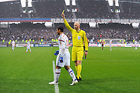 Carton Jaune Nabil FEKIR / Antony GAUTIER - 21.03.2015 - Lyon / Nice - 30eme journee de Ligue 1 -<br />