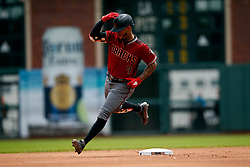 SAN FRANCISCO, CA - MAY 26: Ketel Marte #4 of the Arizona Diamondbacks rounds the bases after hitting a home run against the San Francisco Giants during the first inning at Oracle Park on May 26, 2019 in San Francisco, California.  (Photo by Jason O. Watson/Getty Images) *** Local Caption *** Ketel Marte