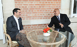 November 2, 2018 - Varna, Bulgaria - Greek prime minister Alexis Tsipras, (L) and the Bulgarian Prime Minister, Boyko Borisov, (R) during Quadrilateral high level meeting between Bulgaria-Greece-Romania-Serbia in Euxinograd Residence in Varna, Bulgaria on November 02, 2018. Picture by: (GIS)GOVERNMENTAL INFORMATIONAL SERVICE, BULGARIA  (Credit Image: © Hristo Rusev/NurPhoto via ZUMA Press)