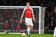 Arsenal Defender Rob Holding (16) during the Europa League group stage match between Arsenal and Sporting Lisbon at the Emirates Stadium, London, England on 8 November 2018.