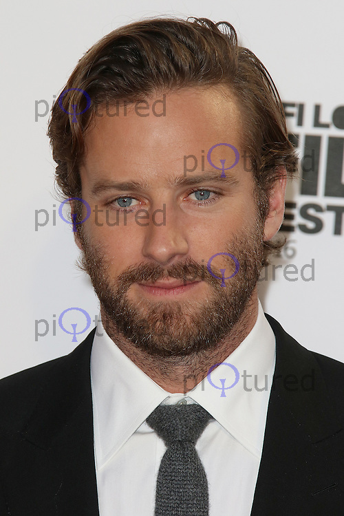 Armie Hammer, BFI London Film Festival 2016: Nocturnal Animals - Headline Gala, Odeon Leicester Square, London UK, 14 October 2016, Photo by Brett D. Cove