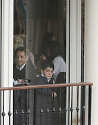 28 March 2010-New York, NY-French President Nicholas Sarkozy, and his son, Louis Sarkozy dine at Central Park's Boat House at Nicholas Sarkozy Visit to the United States of America held at The Carlyle Hotel in New York City  on March 28, 2010. ..The President of France and his wife, Carla Bruni-Sarkozy are visiting New York City for a short visit before their Tuesday visit at The White House visit with President Obama. Photo Credit: Terrence Jennings/Sipa