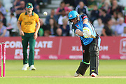 Riki Wessels of Worcestershire Rapids drives through the covers during the Vitality T20 Blast North Group match between Nottinghamshire County Cricket Club and Worcestershire County Cricket Club at Trent Bridge, West Bridgford, United Kingdon on 18 July 2019.