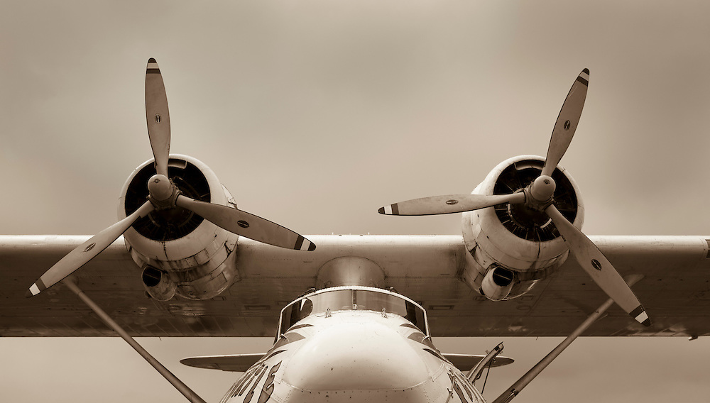 Consolidated PBY seaplane on display during Airventure in 2010.  Oshkosh, Wisconsin.