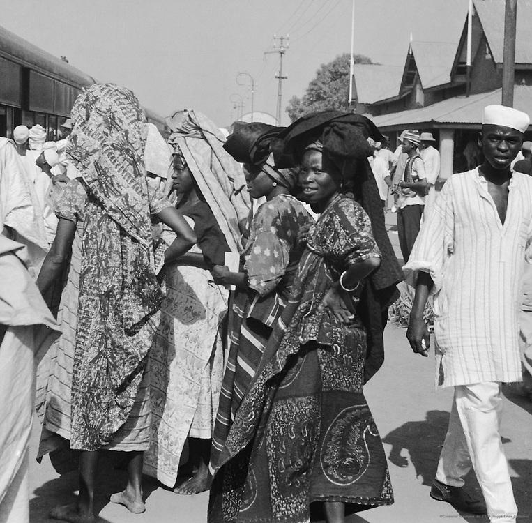 Women at Train Station, Lagos, Nigeria, Africa, 1937