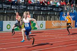 STRENG Felix, PEACOCK Jonnie, HERTOG Ronald, 2014 IPC European Athletics Championships, Swansea, Wales, United Kingdom