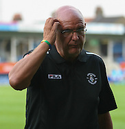 Picture by David Horn/Focus Images Ltd +44 7545 970036<br /> 23/07/2013<br /> John Still , Manager of Luton Town scratches his head as his Conference side go into half-time 1-0 against Premiership side Aston Villa during the Pre Season Friendly match at Kenilworth Road, Luton.