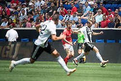 July 28, 2018 - Harrison, New Jersey, United States - Juventus defender GIORGIO CHIELLINI (3) during the International Champions Cup at Red Bull Arena in Harrison, NJ.  Juventes vs Benfica (Credit Image: © Mark Smith via ZUMA Wire)