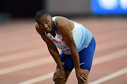 Matthew Hudson-Smith of Great Britain looks on - Mandatory byline: Patrick Khachfe/JMP - 07966 386802 - 06/08/2017 - ATHLETICS - London Stadium - London, England - Men's 400m Semi Final - IAAF World Championships