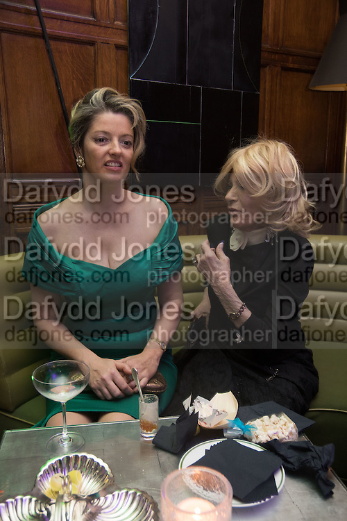 PETRONELLA WYATT AND HER MOTHER LADY WYATT, The Brown's Hotel Summer Party hosted by Sir Rocco Forte and Olga Polizzi, Brown's Hotel. Albermarle St. London. 14 May 2015